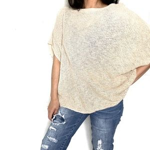 Roots Canada Batwing Cream Sweater